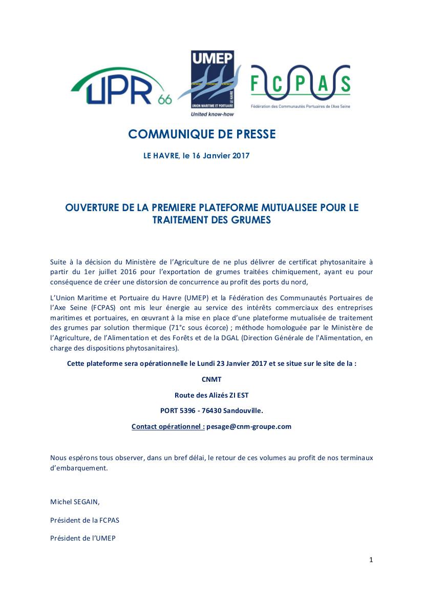 CP PLATEFORME TRAITEMENT GRUMES